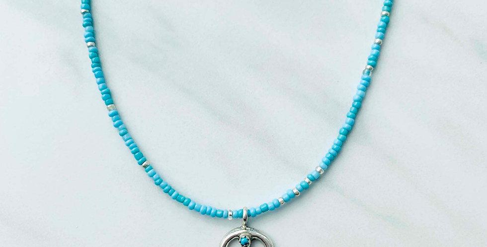 Sterling Silver Pendant Navajo Necklace