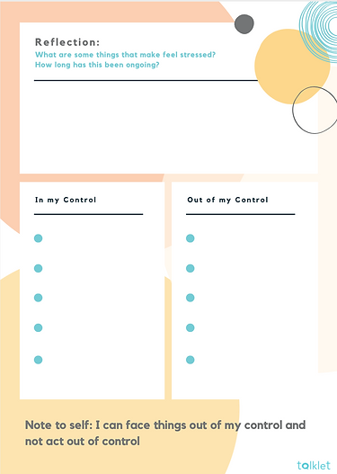 Talklet's Stress Control Template