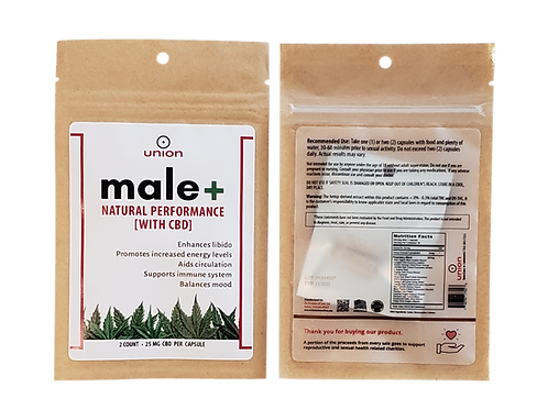 male+ Performance Capsules - All Natural