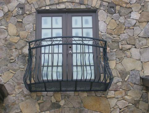 Custom iron window boxes by local Charlotte Blacksmith