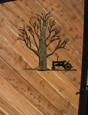 Custom iron art and home decor by local Charlotte Blacksmith