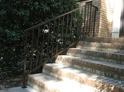 Custom iron railing by local Charlotte Blacksmith