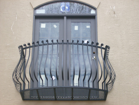 Custom iron window boxes by local Charlotte Blacksmith
