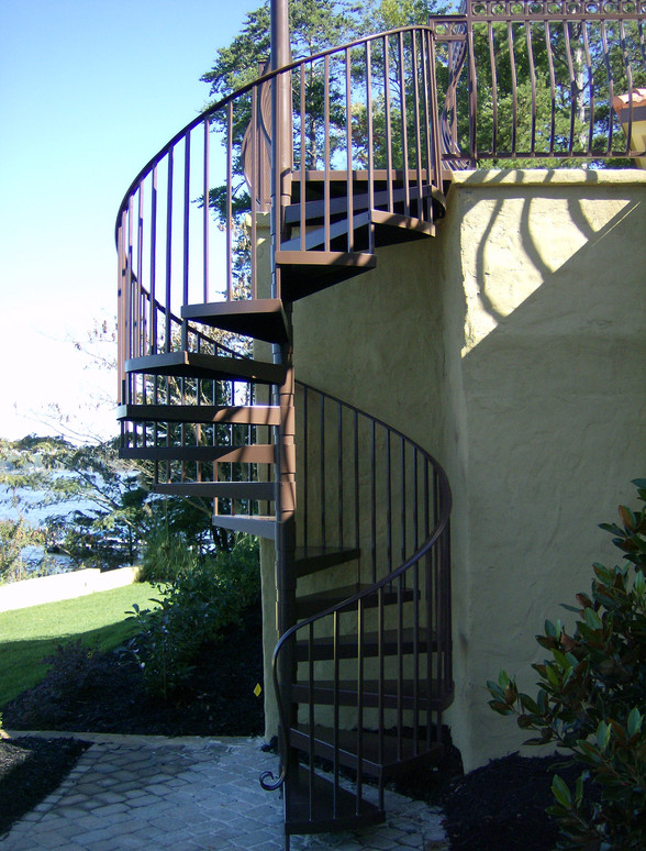 Custom iron staircases by local Charlotte Blacksmith