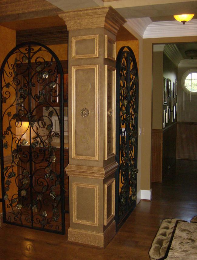 Custom iron doors by local Charlotte Blacksmith