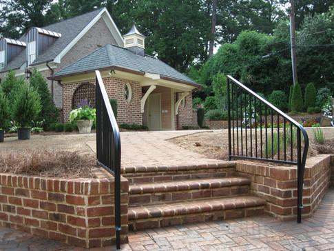 Custom iron railing by local Charlotte BlacksmithCustom iron railing by local Charlotte Blacksmith