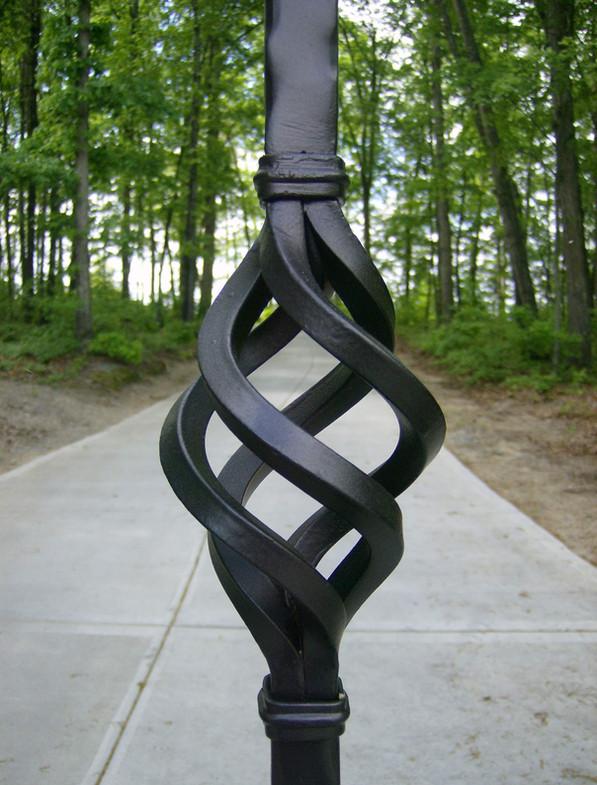 Custom iron art and home decor by local Charlotte Blacksmith