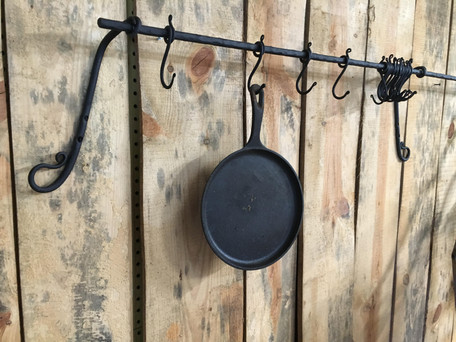 pot rack and all types of rustic home decoration