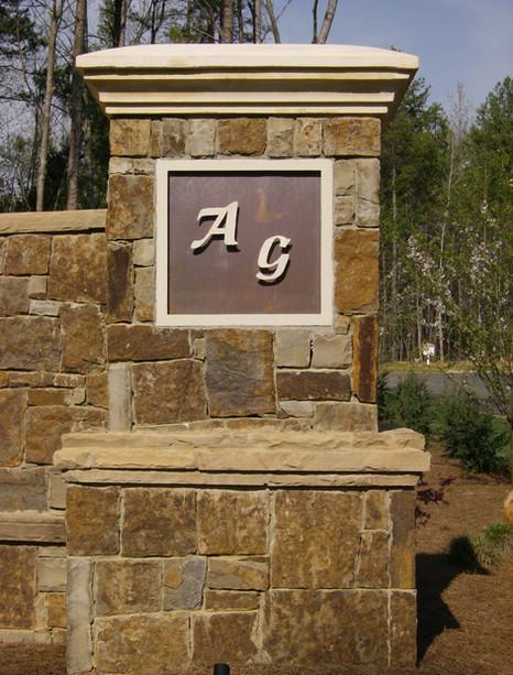 Custom iron signage by local Charlotte Blacksmith