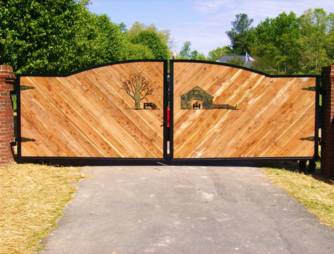 Custom iron surround gate by Charlotte Blacksmith