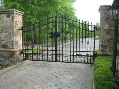 Custom iron gate by Charlotte Blacksmith