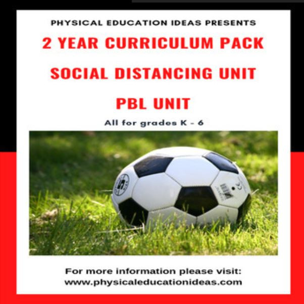 physical education lesson social distance games