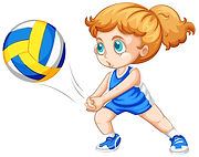 physical education (P.E.) teaching volleyball lessons