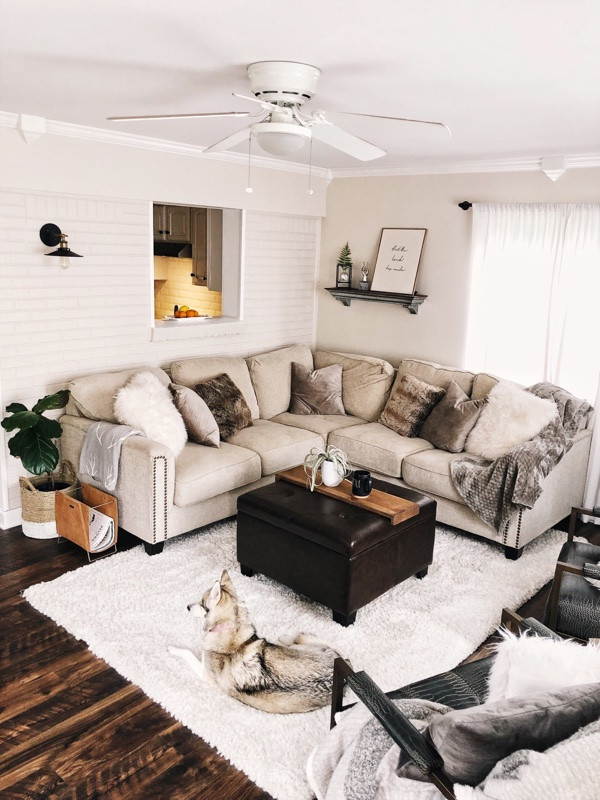 Our Modern Farmhouse Living Room Tour With Progress Pics