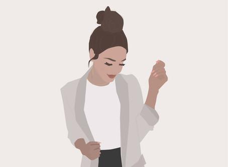 Messy Bun Illustration | Doodle Series | Time-lapse