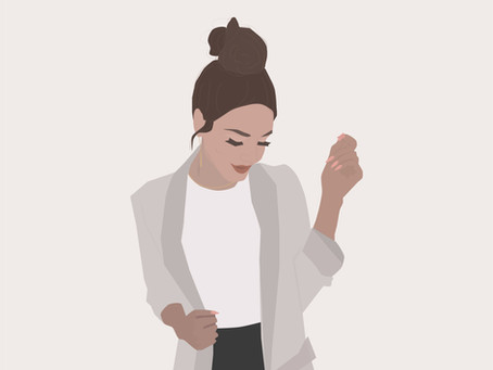 Messy Bun Illustration | Doodle Series | Time-lapse