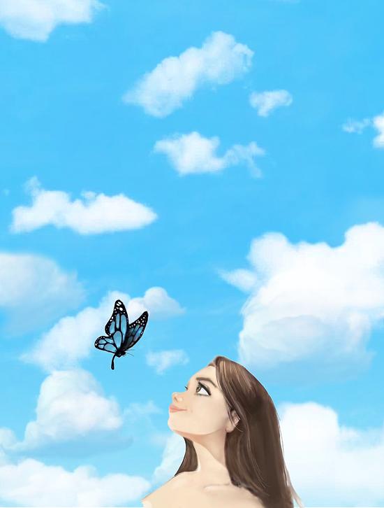 blue butterfly alanna