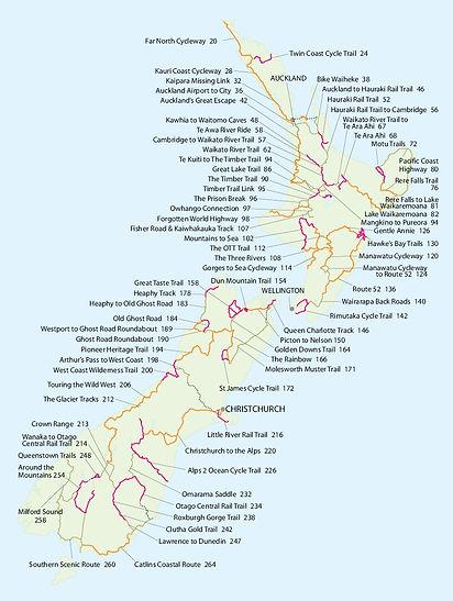 Route vélo Nouvelle-Zélande