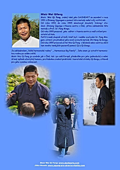Mistr WEI Qi Feng - pozvánka na Kurz roz