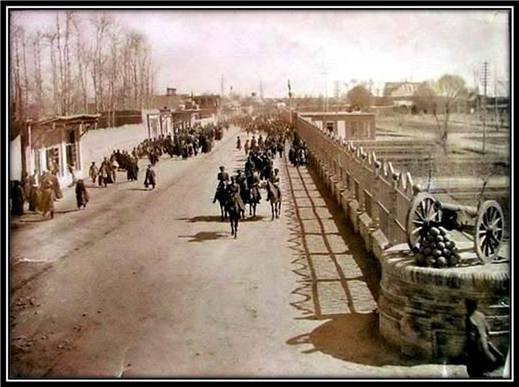 Photo of Mirdamad, 1871, claimed to be the oldest photograph of Tehran  (https://www.kavehfarrokh.com)
