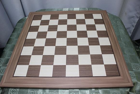 Tabuleiro de madeira marchetado - Walnut, 5,7 cm