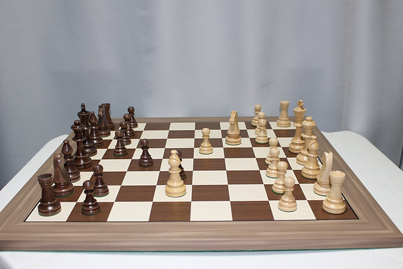 Conjunto de xadrez de madeira - peças Staunton 10 cm + tabuleiro madeira