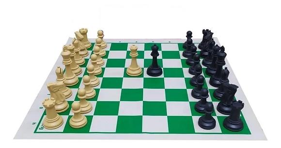 Jogo de xadrez Staunton Profissional - peças, tabuleiro e 2 damas extra