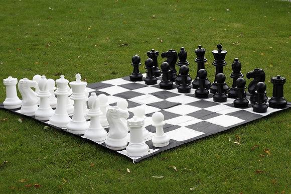 Xadrez gigante - peças + tabuleiro