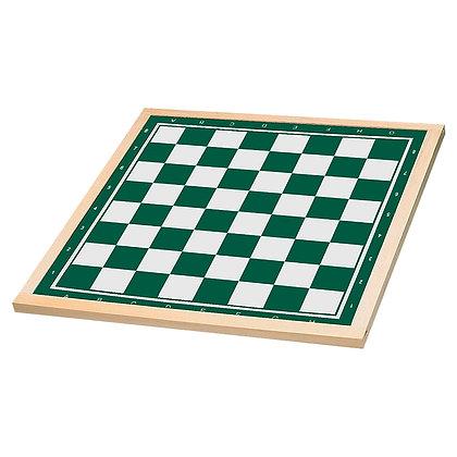 Tabuleiro de xadrez e damas - madeira - casas 5 cm