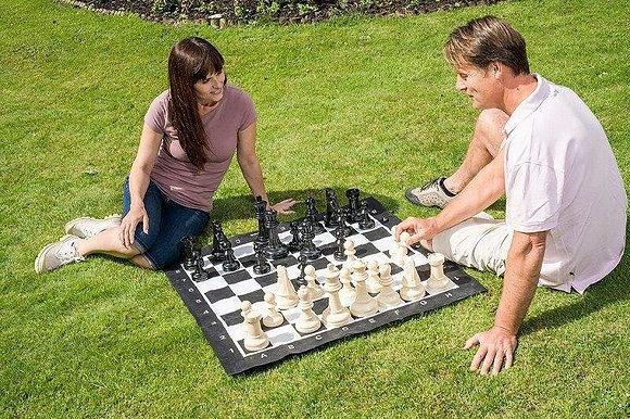 Mini xadrez gigante / Xadrez de jardim - Rei 20,9 cm!