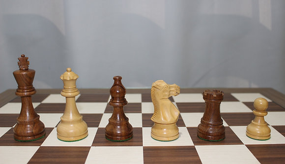 Peças de xadrez Staunton American Classic - madeira, 3,75 polegadas