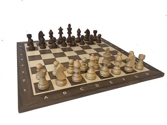 Conjunto de xadrez - peças DGT Timeless + tabuleiro Walnut