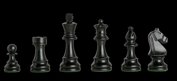 Peças de xadrez House of Staunton Black - 3,75 polegadas