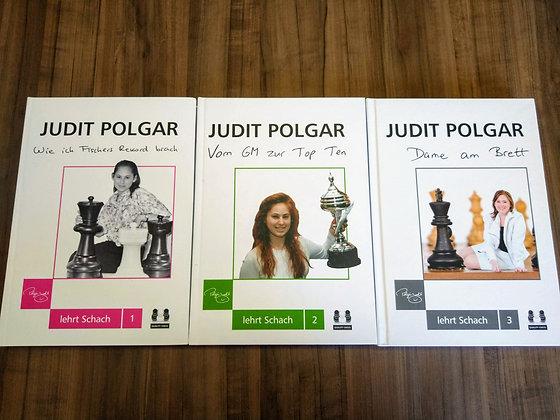 Coleção Judit Polgar em alemão - 3 vol., capa dura