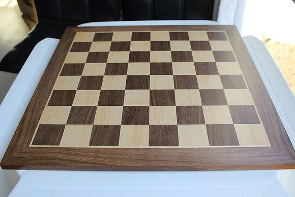 Tabuleiro de madeira - Walnut, estilo DGT, casa 5,5 cm