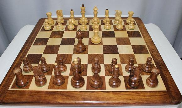 Conjunto de xadrez Luxo - madeira Sheesham, tabuleiro + peças