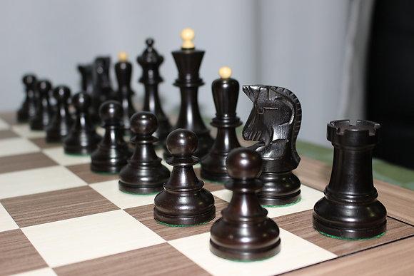 Peças de xadrez Dubrovnik 1950 Black - favorito do Bobby Fischer