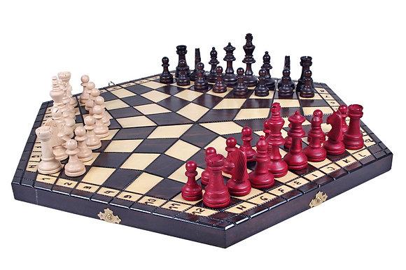 Xadrez Staunton para 3 jogadores - madeira, importado
