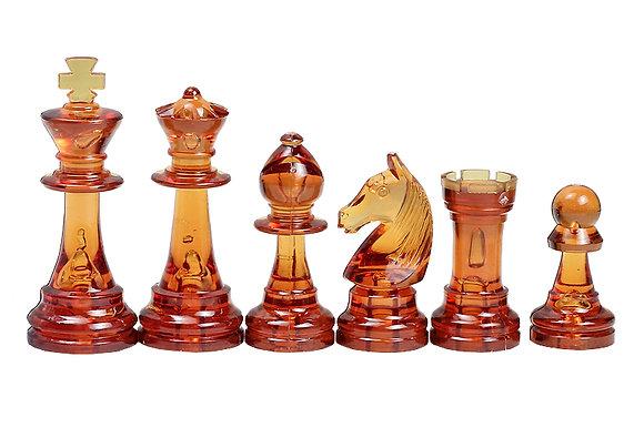 Peças de xadrez Staunton transparente - rei 9,6 cm