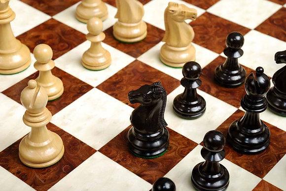 Peças de madeira Reykjavik II Series Black - match Fischer x Spassky!