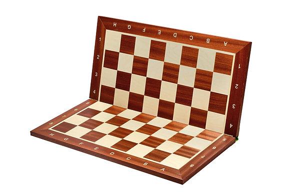Tabuleiro importado de madeira - casa 5,8 cm, com coordenadas, dobravel