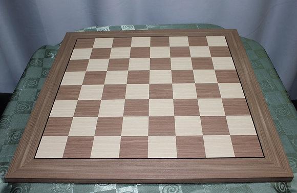 Tabuleiro de xadrez da Flow Podcast -  madeira, marchetado, casa 5,7 cm