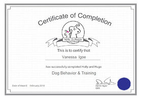 Igoe Dog Walking Behaviourand Training Qualifications