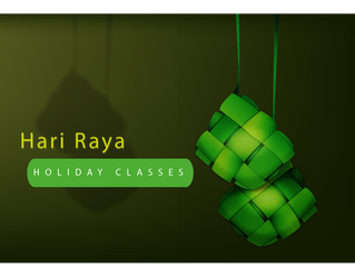 Celebrate Hari Raya with fun classes !