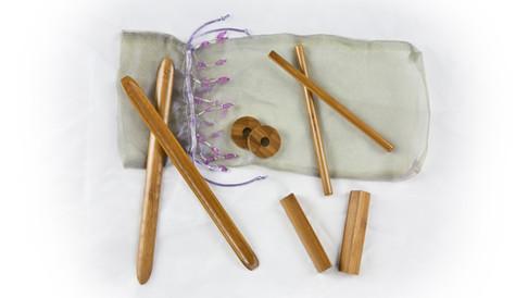 bamboo-fusion massage stick set facial
