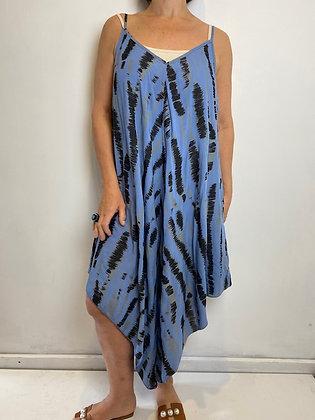 Blue Print Harem Suit