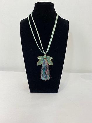 Costume Leave tassel Necklace