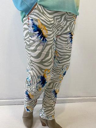 Tropical print magic trousers
