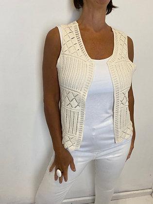 Cream crochet waistcoat