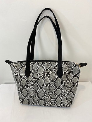 Faux leather snakeskin Tote Bag